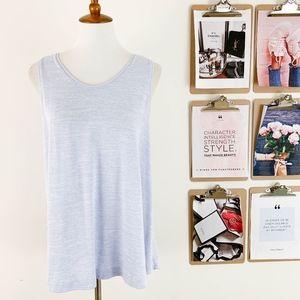 Merona Swing Tank Top Medium Sleeveless Blue Knit
